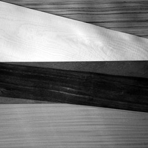 Selection of solid woods and veneers