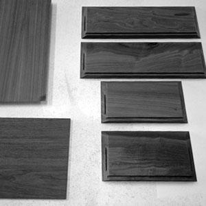 Cut and mitered pieces are ready for assembly