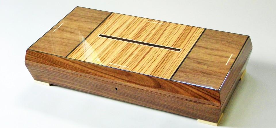 Zebra Walnut Box